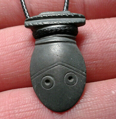 Ancient Bronze Artifact  Head Snake. Can be worn around the neck as a pendant.
