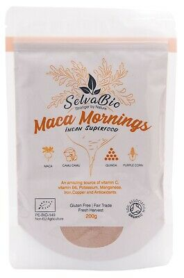 Organic Maca Mornings Blend, 100% Certified, 200g From Peru!