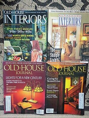 Lot Of 4 Magazines- Arts Crafts Era- Old House Journal & Interiors -Mission Arts