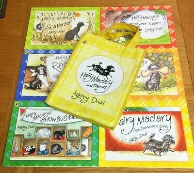 *** Hairy Maclary & Friends Set Of 6 Books In A Carry Bag By Lynley Dodd ***