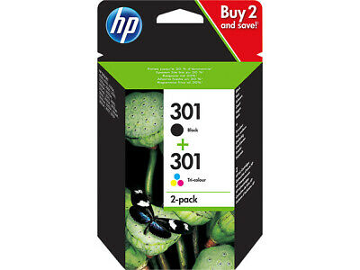 2 Original HP 301 Drucker Patronen Tinte OfficeJet 2620 4630 4632 2622 4634 4636