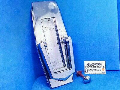 Art Deco Chrome Door Knocker & Letterbox, door furniture architectural salvage