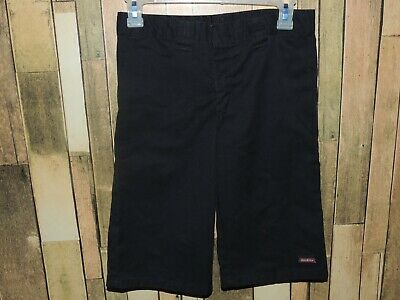 Boys Dickies 10H Husky Black Workpocket Shorts Adjustable Waist- Euc