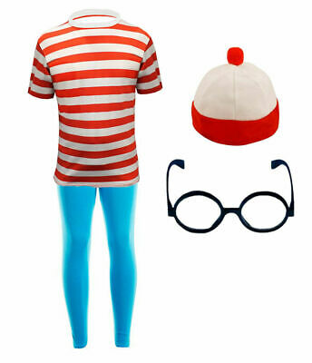 Red And White Girls Kids Costume World Book Day Week Fancy Dress