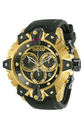 Invicta Reserve Venom Viper Swiss Chronograph Quartz 52mm Black Gold Dial Watch