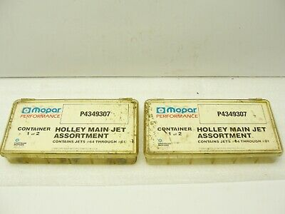 Holley Carburetor Main Jet 62 1//4-32 thread 2 PK 122-62 Pure Holley Perf Product