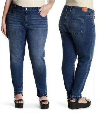 NWT $99 LUCKY BRAND WOMENS GINGER SKINNY JEANS BLUE SIZE 22W