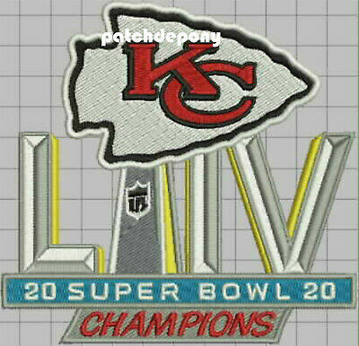 KANSAS CITY CHIEFS AFC SUPERBOWL LIV 54 CHAMPIONS sew on embroid Patch