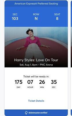 """2 or 4 Tickets Harry Styles """"Love on Tour"""" Raleigh NC Sec103 Row N Great Seats!"""