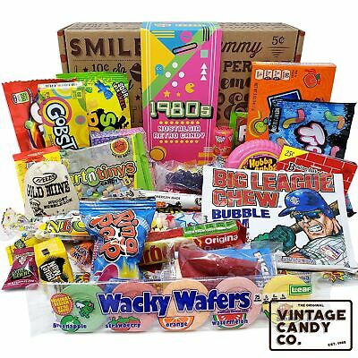 VINTAGE CANDY CO. 1980's RETRO CANDY GIFT BOX - 80s Nostalgia Candies - Flash...