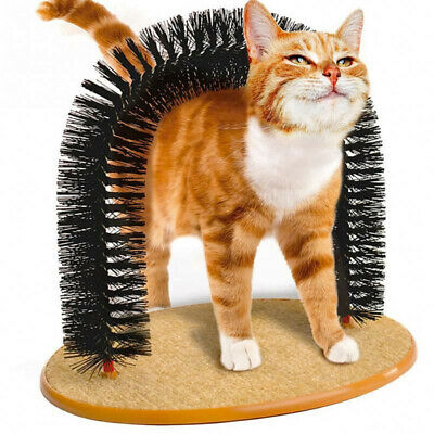 US Ship!! Cat Massager Groomer Arch Playing Station Shedding Scratching Bristle