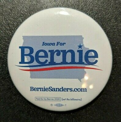 Bernie Sanders Button Iowa For Bernie President 2020