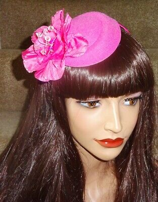 SALE NOW ON!!!!  Hot Pink small felt Hat Fascinator on band from Fascinators 4U