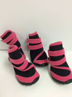 Set of 4 Pet Life Performance Coned Premium Stretch Supportive Pet Shoes pink