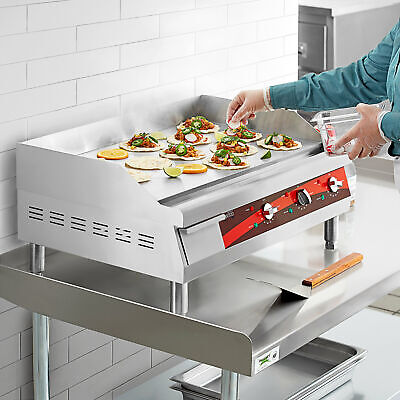 """30"""" Stainless Steel Electric Restaurant Countertop Flat Top Griddle"""
