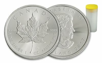1oz Silver Canadian  Maple Leaf, 9999 Fine Silver Bullion Coin new 2017.