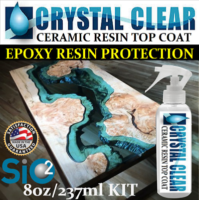 Epoxy Resin Bar & Table Top Crystal Clear Ceramic Top Coat Protection High Gloss