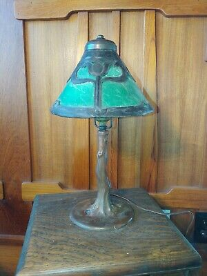 Handel A/C tulip desk lamp,mission,arts and crafts, lamp.