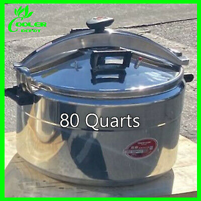 80 Qt Pressure Cooker Aluminum Alloy Family Kitchen Tool Commercial Cookware USA