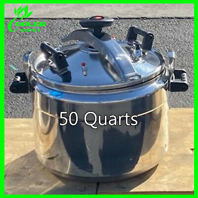 50 QT Pressure Cooker Aluminum Alloy Family Kitchen Tool Commercial Cookware USA