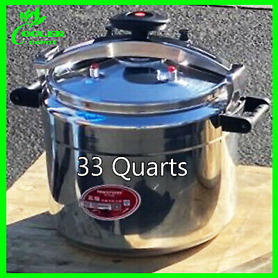 33qt Pressure Cooker Aluminum Alloy Family Kitchen Tool Commercial Cookware USA