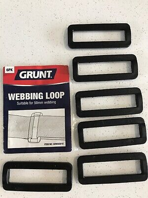 Webbing Loop, 50mm, Grunt, Pack Of 6. NEW, # GRWA0018