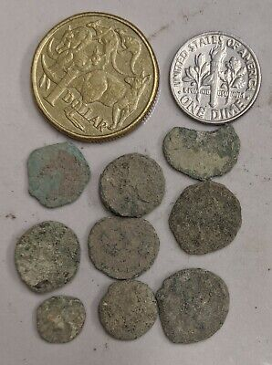 Collection of NINE As Found Uncleaned ANCIENT ROME Roman Coins (#L4250)