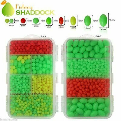 Fishing Lures Biats Beads Hard Plastic Oval Shaped for Saltwater Fishing 1000pcs