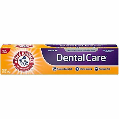 Toothpaste with Baking Soda Advance Cleaning & Strength Fresh Mint 6.3 oz 6 Pack