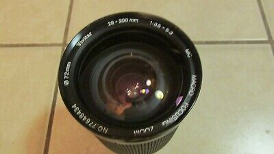 Vivitar Canon FD 28-200mm f/3.5-5.3 Macro Zoom Lens AE-1 Program A-1