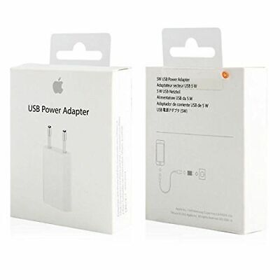 Cargador Original 100% Apple MD813 (Caja Retail) iPhone 5S 6s 7 8 Plus X XS XR