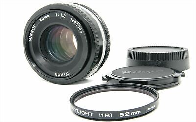 Nikon Ai-s Nikkor 50mm F/1.8 AIS MF Pancake Lens Filter from Japan Very Good