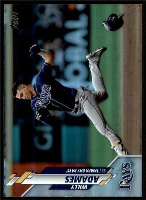 2020 Topps Series 1 Base Rainbow Foil Silver #148 Willy Adames - Tampa Bay Rays