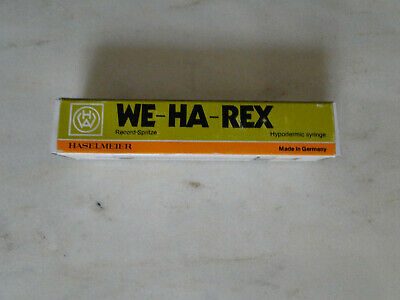 WE-HA-REX  alte Glasspritze in OVP