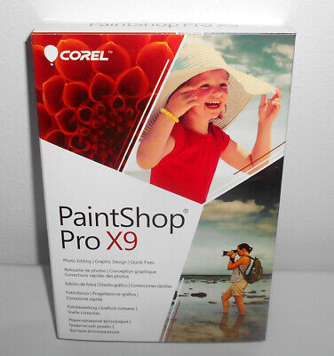 Corel PaintShop Pro X9 photo editing graphics design windows 10 Compatible