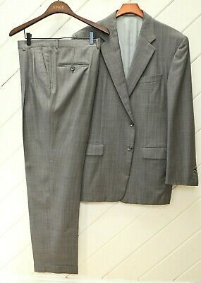 Surgeon's Cuffs_Fully Canvassed HICKEY FREEMAN Bespoke Suit_Sz.44R_Gray - Plaid