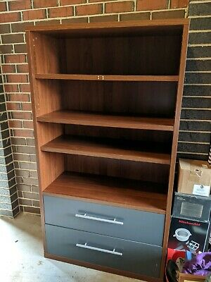 Bookcase / shelving unit two draws and adjustable shelves storage