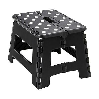 Heavy Duty Plastic Step Stool Foldable Multi Purpose Home Kitchen Use Black