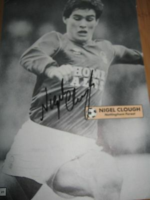 Nigel Clough Autograph Magazine Page Hand Signed Nottingham Forest Football