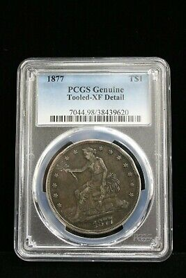 1877 Silver TRADE Dollar Beautiful PCGS XF EXTRA FINE Details Certified #9620