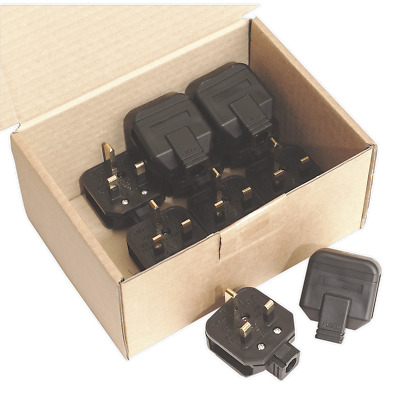 Sealey PL/13/3 Rubber Plug 13Amp Extra Heavy-Duty Pack of 10