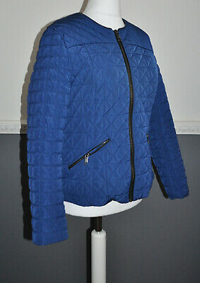 NEXT Ladies Blue Quilted Jacket Padded UK 18 Casual City Wear
