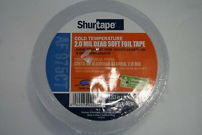 NEW 5 ROLLS SHURTAPE AF 975CT 1.88IN X 50.3YD 2.0 MIL COLD TEMP FOIL TAPE