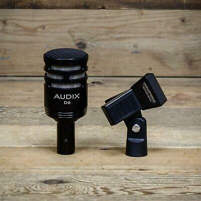 Audix D6 Dynamic Instrument Microphone w/Clip - D-6 Kick Drum Mic U138882