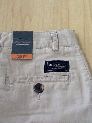 BNWT boys Ben Sherman chinos / trousers age 12 / 13 yrs , beige