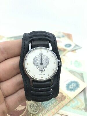 Rare Pobeda Russian Imperial Eagle cal. 2602 USSR 70s wrist watch Victory