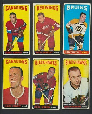 1964-65 Topps NHL Hockey Cards  U-Pick Choose Single Cards to Complete Your Set