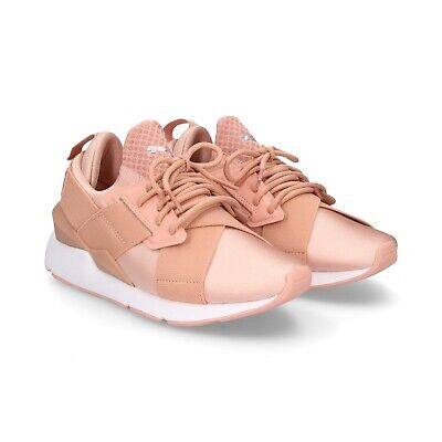 PUMA MUSE SATIN EP Peach Beige White 365534 01 Womens Casual
