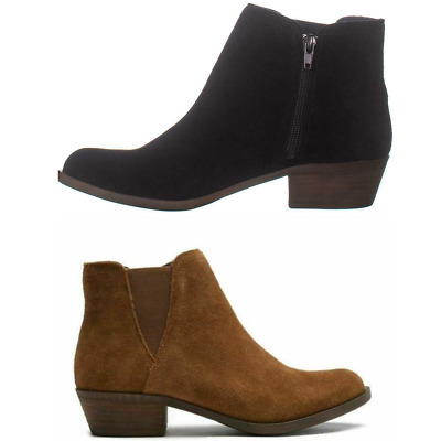 New Womens Kensie Garry Suede Ankle Bootie Short Heel Boots Variety Size & Color