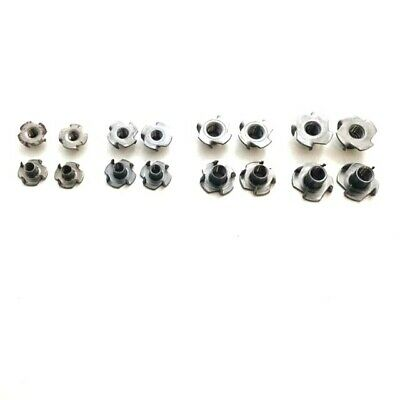 Prolonged T-Nuts with Four Prongs Captive Threaded Inserts For Wood Furniture